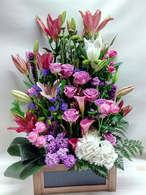Centro de flores vertical